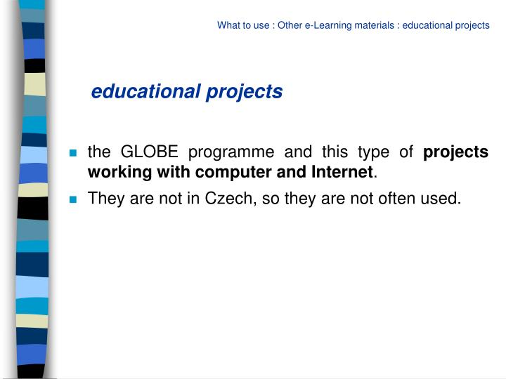 educational projects