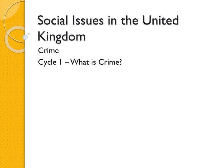 social issues in the united kingdom n.