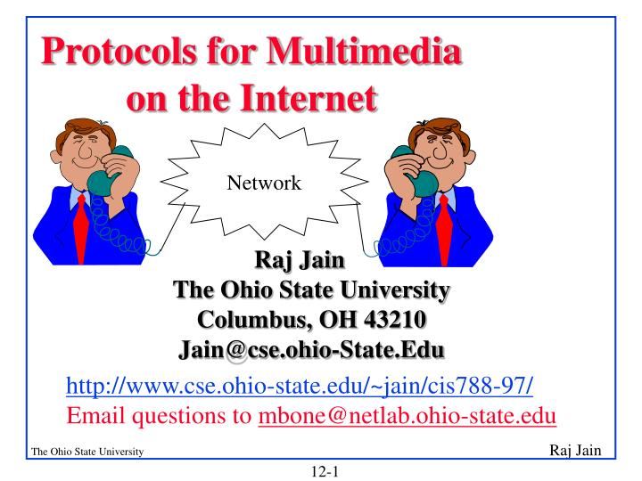protocols for multimedia on the internet n.