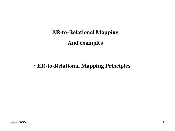 ppt er to relational mapping principles powerpoint presentation
