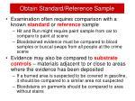 obtain standard reference sample
