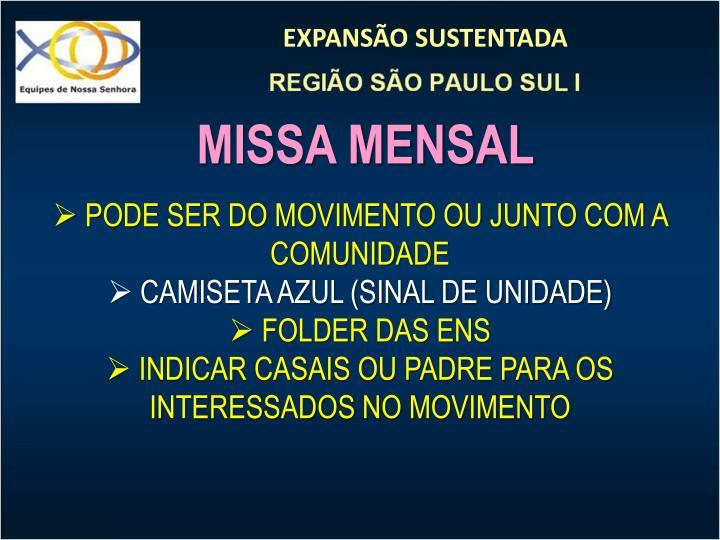 MISSA MENSAL