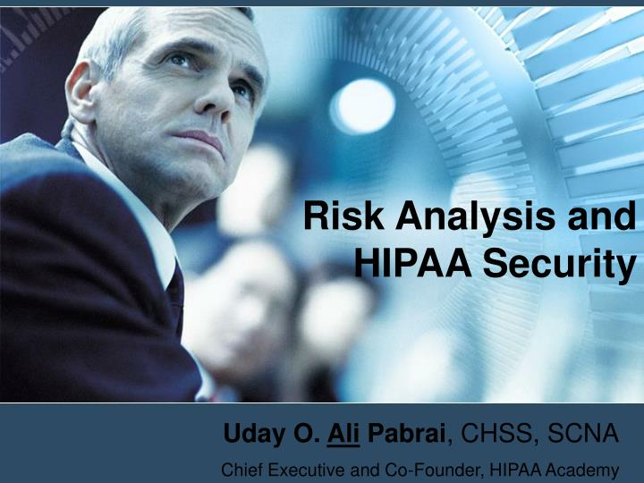 risk analysis and hipaa security n.