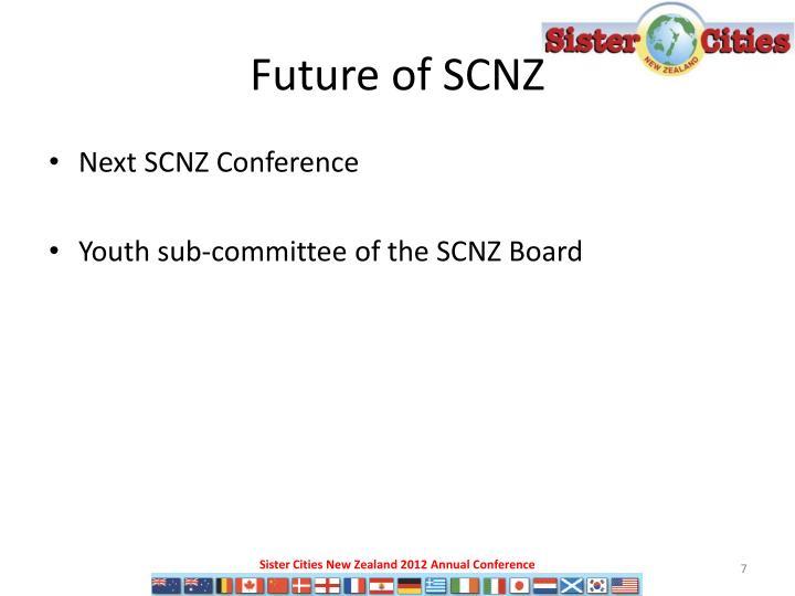 Future of SCNZ