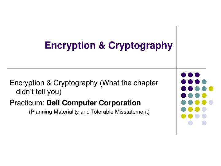 encryption cryptography n.