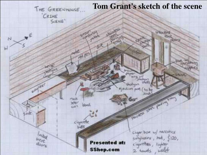 Tom Grant's sketch of the scene