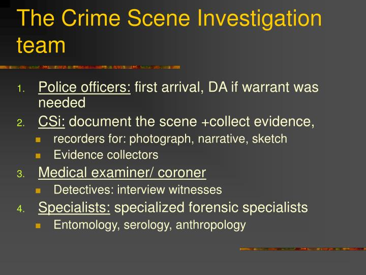 The Crime Scene Investigation team