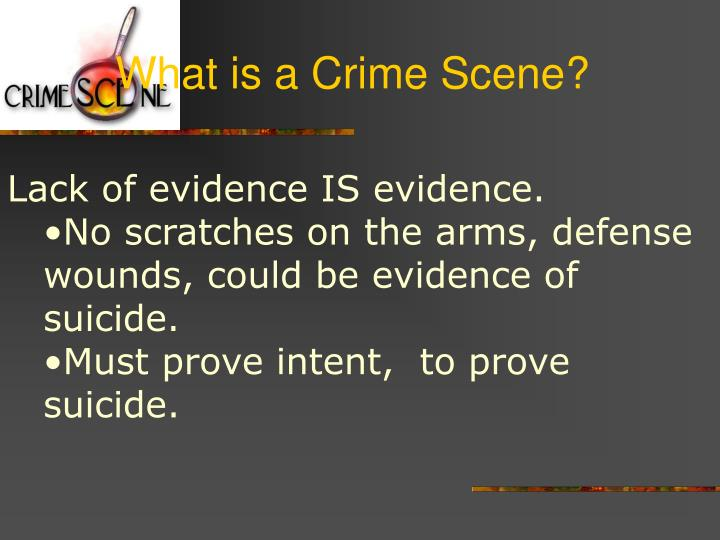 What is a Crime Scene?
