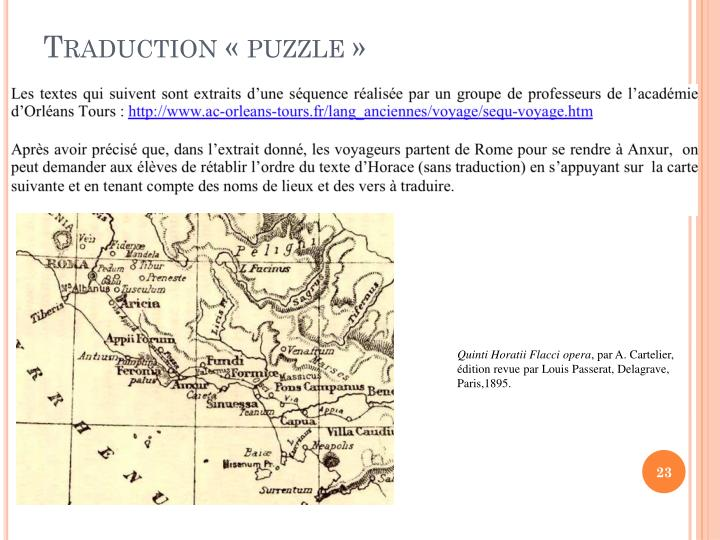 Traduction « puzzle »