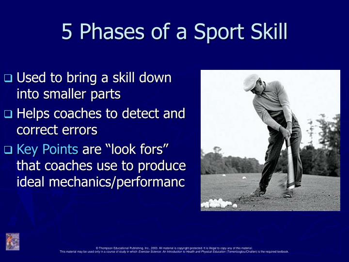 5 phases of a sport skill n.