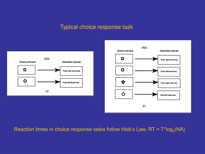 Typical choice response task