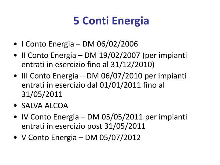5 Conti Energia