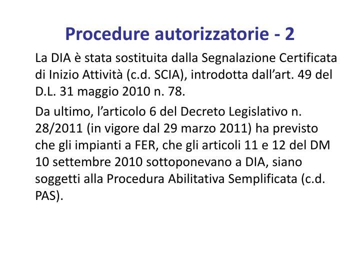 Procedure autorizzatorie 2