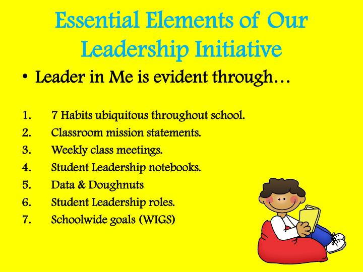 Essential Elements of Our Leadership Initiative