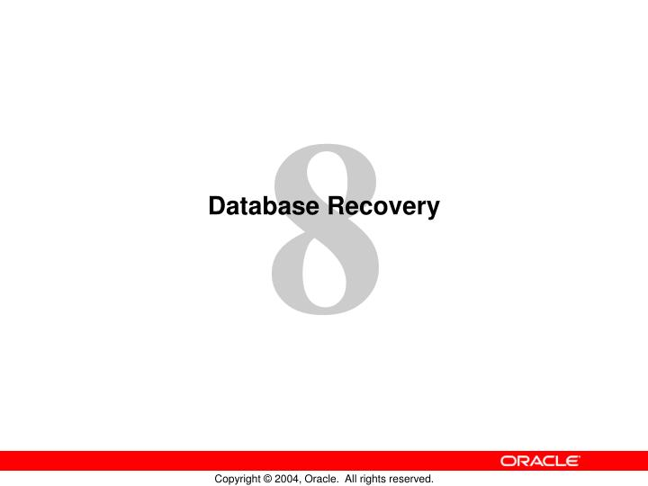 database recovery n.