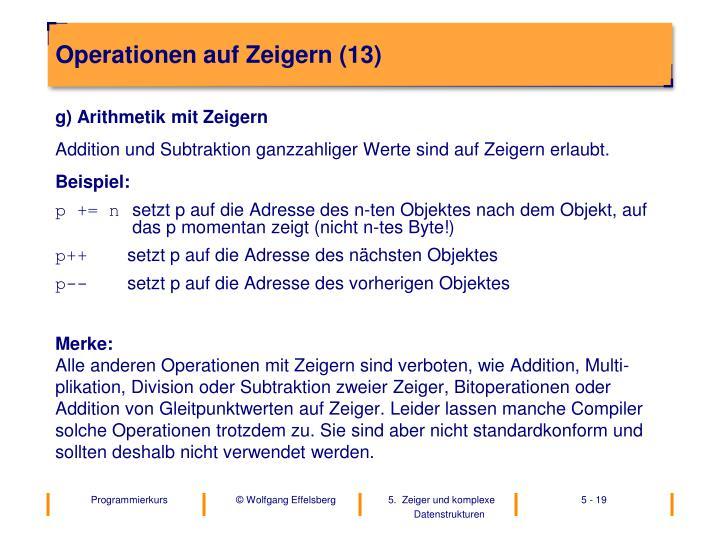 Operationen auf Zeigern (13)