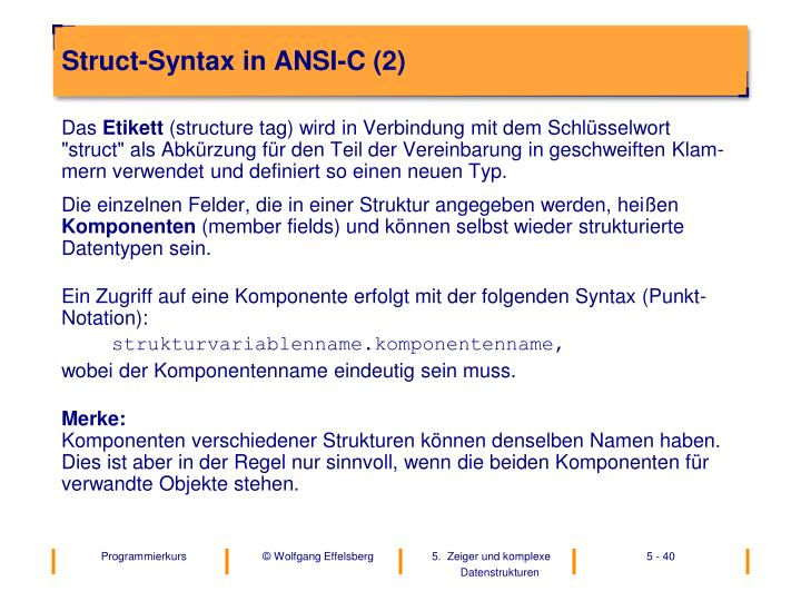 Struct-Syntax in ANSI-C (2)