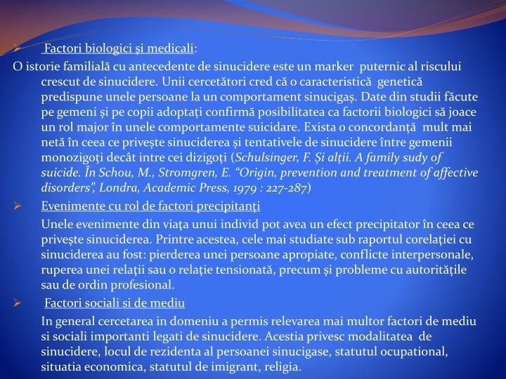 Factori biologicişi medicali