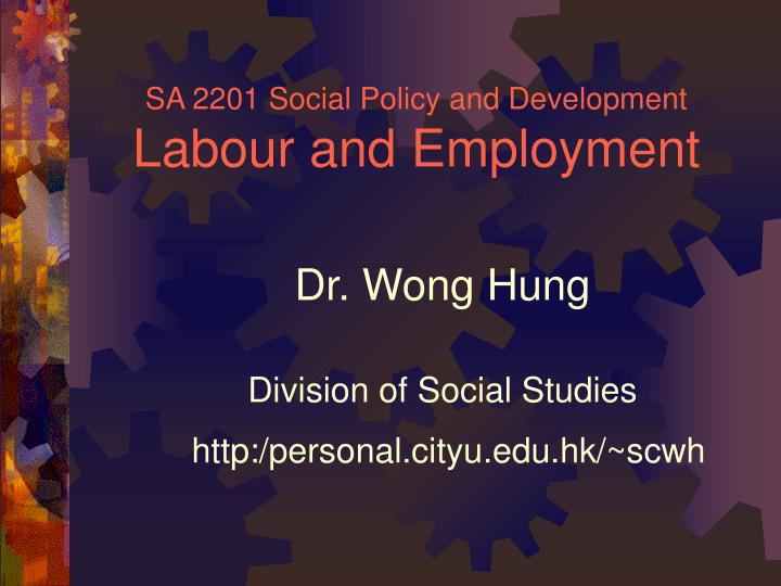 sa 2201 social policy and development labour and employment n.