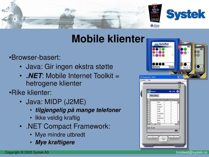 Mobile klienter
