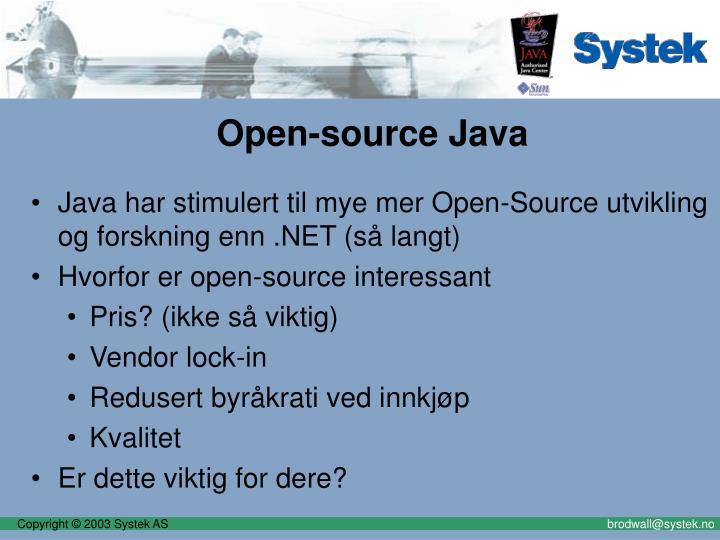 Open-source Java