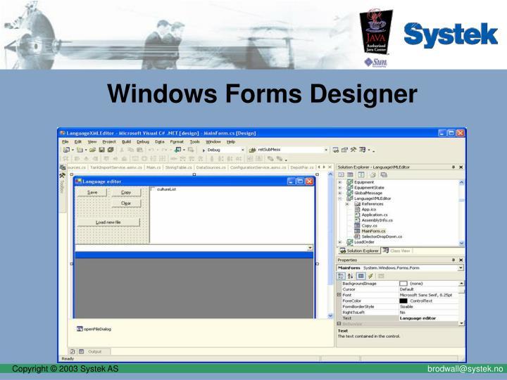 Windows Forms Designer