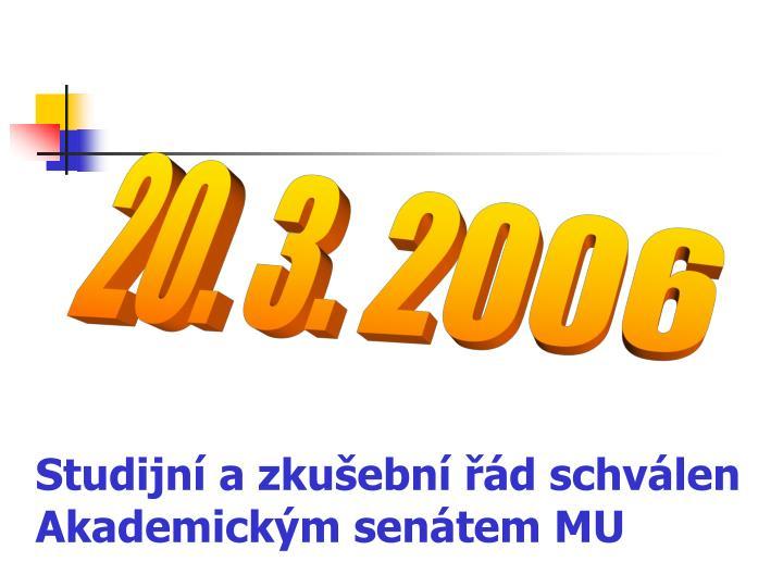 Studijní a zkušební řád schválen Akademickým senátem MU