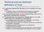 technical and non technical definitions of trust