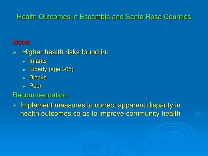 health outcomes in escambia and santa rosa counties n.