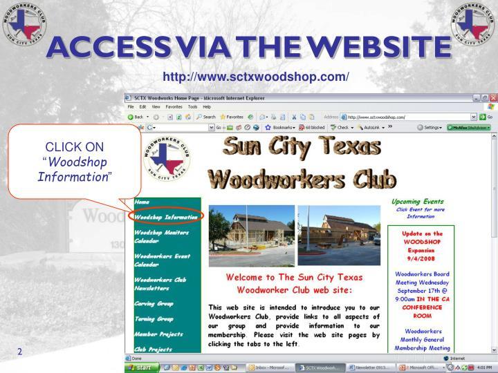 Access via the website