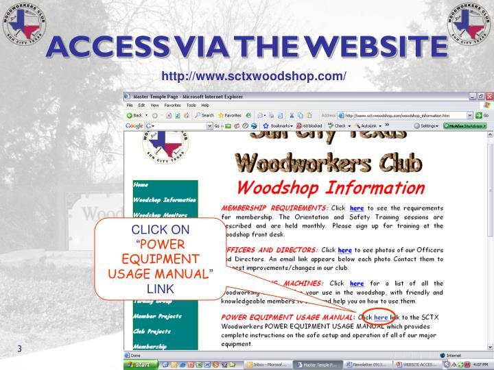 Access via the website1