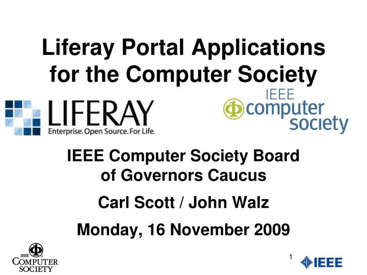 liferay portal applications for the computer society n.