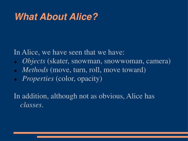 what about alice n.