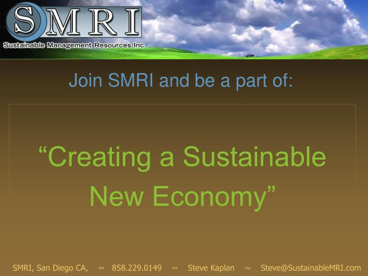 Join smri and be a part of
