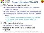 principle of operations fts and lfc