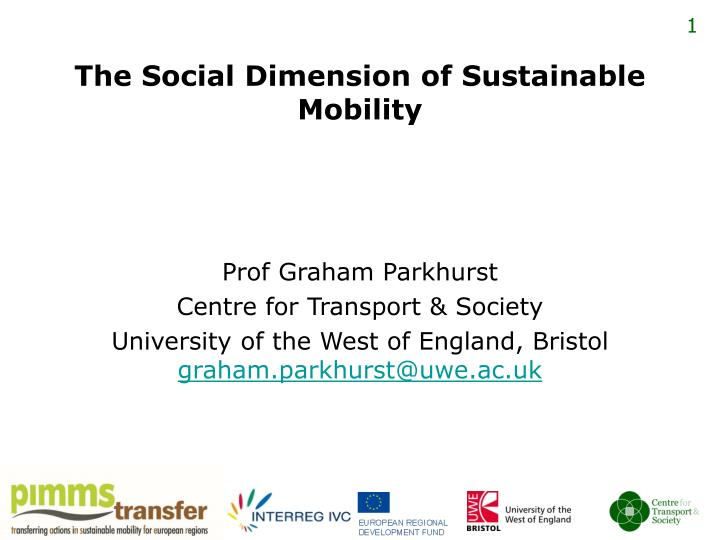 the social dimension of sustainable mobility n.
