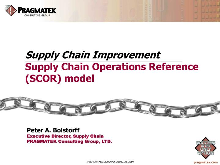 supply chain improvement supply chain operations reference scor model n.