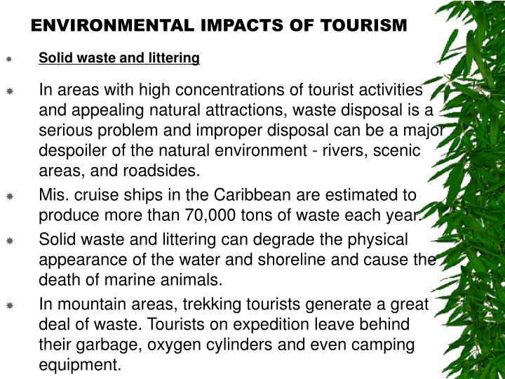 envinronmental impact of tourism penang
