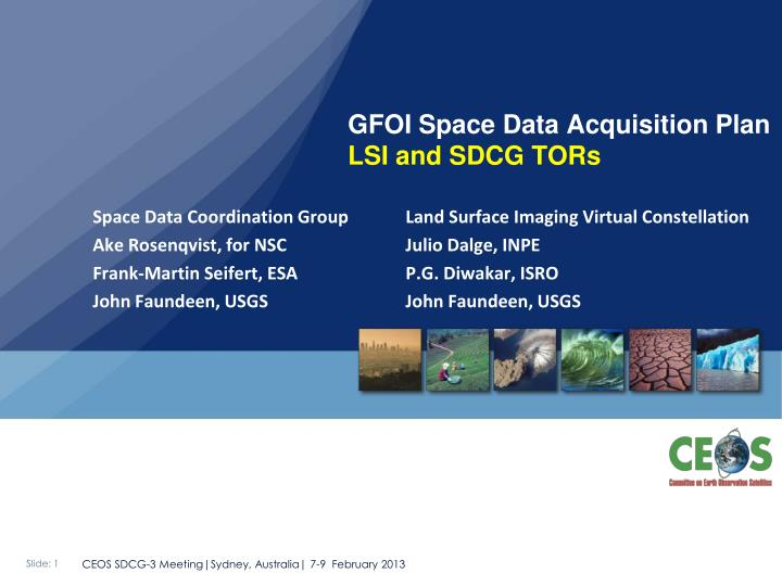 gfoi space data acquisition plan lsi and sdcg tors n.