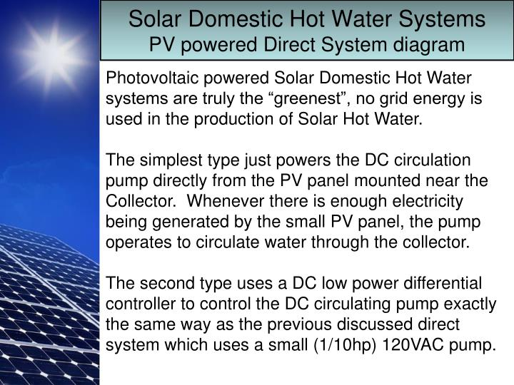 PPT - Solar Domestic Hot Water PowerPoint Presentation - ID:5790812