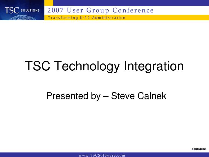 tsc technology integration n.