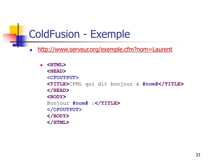 ColdFusion - Exemple