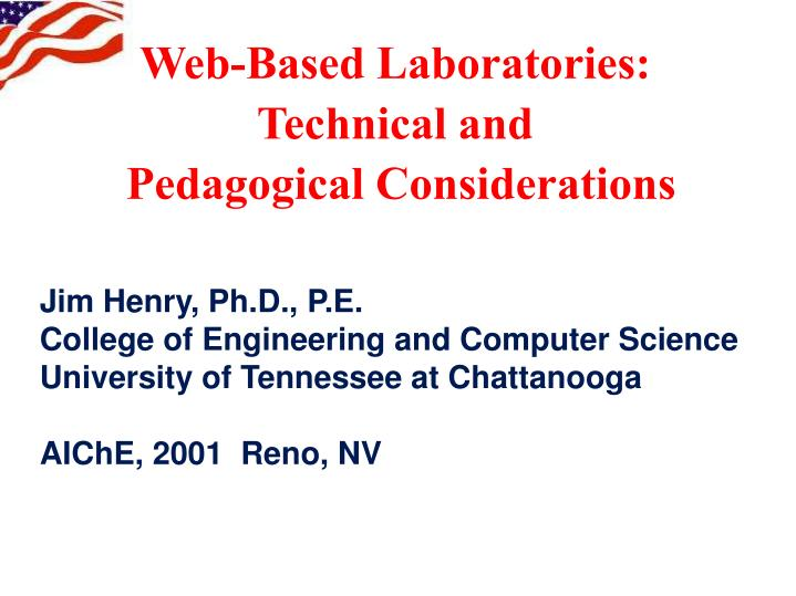 web based laboratories technical and pedagogical considerations n.