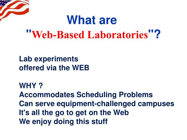 What are web based laboratories