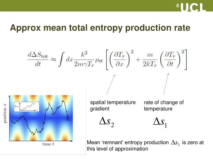 Approx mean total entropy production rate