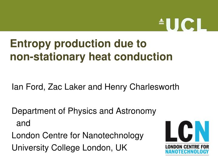 Entropy production due to non stationary heat conduction