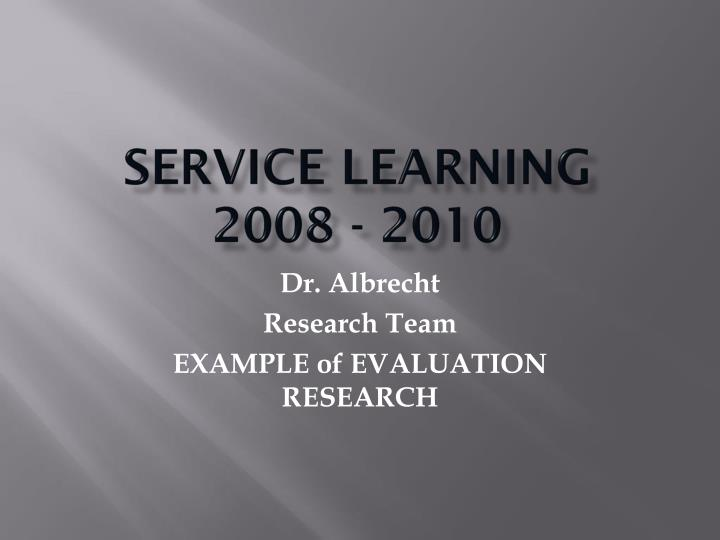 service learning 2008 2010 n.