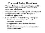 process of testing hypotheses