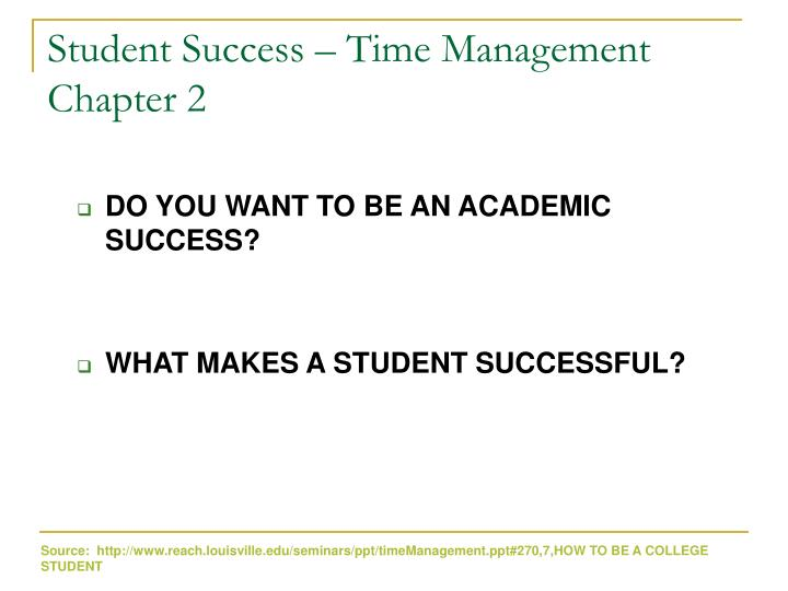 student success time management chapter 2 n.
