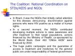 the coalition national coordination on stds aids and ngos